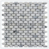 Mosaico di marmo del reticolo della pietra del granito di /Round Carrara del ventilatore bianco della Cina