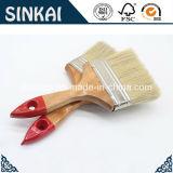 Brosse de peinture plate avec la poignée en bois et les brins mélangés