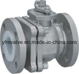 CF8 Ball Valve con PFA Lined Wrench Operator