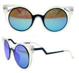 2016 lunettes de soleil de plot réflectorisé de mode avec les tempes particulières en métal