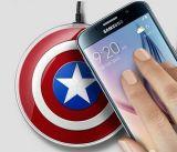 Pista de carga sin hilos sin hilos de capitán América del cargador para el borde S6/S6 borde de la galaxia de Samsung/S6 más