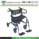 Camminatore di alluminio piegante medico Rollator per Disabled anziano