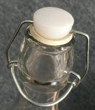 プラグロックが付いている正方形のガラス飲料のびん