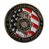 Moneta della polizia placcata oro caldo