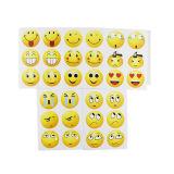 Emojiの自己接着円形のかわいいステッカー、漫画のステッカー