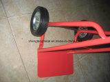 Trole portátil simples da mão do jardim com as duas rodas contínuas