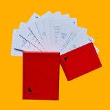 Cartões educacionais plásticos feitos sob encomenda do jogo de cartão de Deisgn
