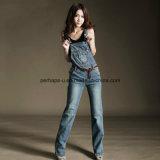 Pantaloni generali delle donne del denim di alta qualità dei jeans classici delle signore