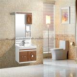 Одиночный керамический шкаф ванной комнаты PVC тазика