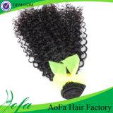 Brasilianer-Jungfrau-Haar-verworrene lockige Menschenhaar-Extension Guangzhou-Aofa 100%