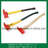 Ascia dell'utensile manuale del acciaio al carbonio dell'ascia con la maniglia