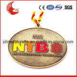 Liberare il disegno della medaglia materiale d'ottone di maratona del quadrato di alta qualità