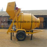 350L Electric Concrete Mixer con Hydraulic Tipping Hopper Rdcm350-8eh