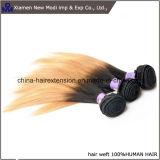 Tessuto dei capelli umani di estensione dei capelli umani di Ombre
