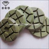 Almofadas de polonês rígidas do diamante da ligação da resina Cr-14 para o assoalho concreto de lustro molhado ou seco