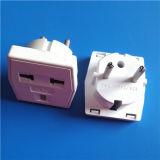 Plugue redondo de 2 ABS do adaptador do adaptador do soquete dos pinos (Y110)