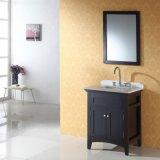 単一の洗面器の純木の現代浴室の家具