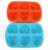 Инструменты выпечки силикона формы сердца влюбленности творческие