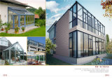 Sunroom de cristal de aluminio de la casa moderna del jardín 2015