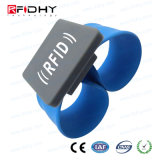 Bracelet et bracelet promotionnels d'IDENTIFICATION RF de silicones de Smart Card d'impression d'écran en soie
