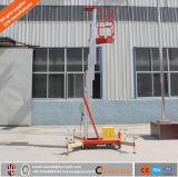elevatore verticale dell'uomo del singolo albero di alluminio idraulico elettrico leggero dell'albero di 8m