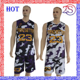 Personalizzare Highquality Reversible Sublimation Basketball Uniforms Camo New Design per 2016