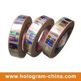 Clinquant d'estampage chaud de garantie d'hologramme transparent de laser
