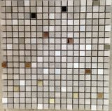 Schöne Fußboden-Fliese für Strainless Stahlkristall-Mischnatur-Marmor-Stein-Mosaik (FYSM040)
