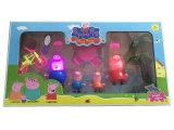 Populäre Karikatur der rosafarbenen Schwein-Familien-Spielwaren für Kinder