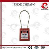 Cadeado de aço da segurança do grilhão do cabo com sistema de execução de mapas chave