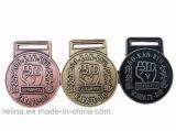 Médaille Polished en alliage de zinc faite sur commande de club avec le ruban