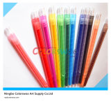 12PCS 0.7*17cm Rotatable Crayon per Kids e Students