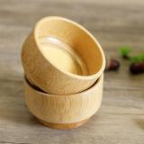 El bambú respetuoso del medio ambiente de las saludes infantiles de bambú naturales del tazón de fuente rueda vajilla
