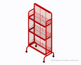 Tablette de magasin de magasin en métal 3-Tiered Snake Wire Shelving Display Rack