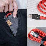 Câble de remplissage durable et rapide du câble de foudre d'Anker Powerline+ (3FT) [double nylon tressé] pour l'iPhone, l'iPad et plus de câble d'iPhone (de rouge)