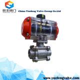 Válvula de esfera pneumática da flutuação do NPT