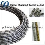 Провод диаманта увидел для используемых стальным каменным шариков паяемых вырезыванием