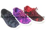 Chaussures occasionnelles en gros de sports de chaussures de toile d'injection d'enfants (FFCS111906)