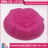 Moulages de gâteau de moulages de traitement au four de gâteau de silicones de forme de fleur