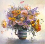 Königliche Art-Blumen-dekorativer Farbanstrich mit Rahmen für Hauptdekoration
