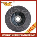 4 '' disques abrasifs d'aileron d'oxyde de calcination de qualité (couverture 22*14mm de fibre de verre)