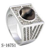 925 серебряных кец людей Gemstone при белый & черный смешанный CZ
