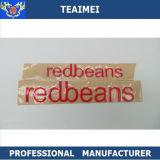 Divisa plástica del emblema de la etiqueta engomada de la carrocería de coche de Redbeans de 2016 nuevos ABS