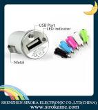 5V 2.1A+1A conjuguent le chargeur gauche de véhicule de C.C de 2 USB pour le smartphone