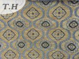 Lavable tapicería tela de chenille jacquard para sofá o una silla Set