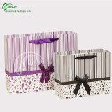 Sacs de empaquetage estampés colorés de papier avec le traitement (KG-PB035)