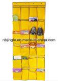 24 armazenamentos de suspensão da porta do armazenamento do organizador da sapata dos bolsos