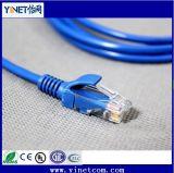 fil de cavalier bleu de RJ45 de cordon de connexion de l'Internet CAT6 de 3m pour le PC de couteau de commutateur