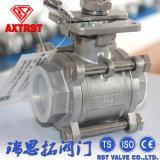 De Drijvende 3PC Ingepaste Kogelklep van het roestvrij staal met het Opzetten ISO5211 Stootkussen