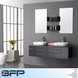 Meuble de salle de bain en bois design chic avec deux miroirs